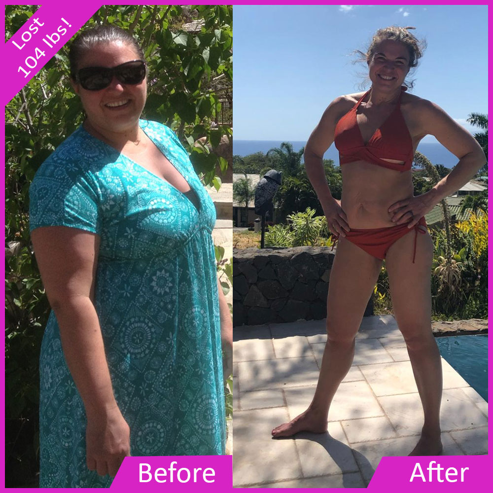 Tasha lost 104 pounds with super chica fitness