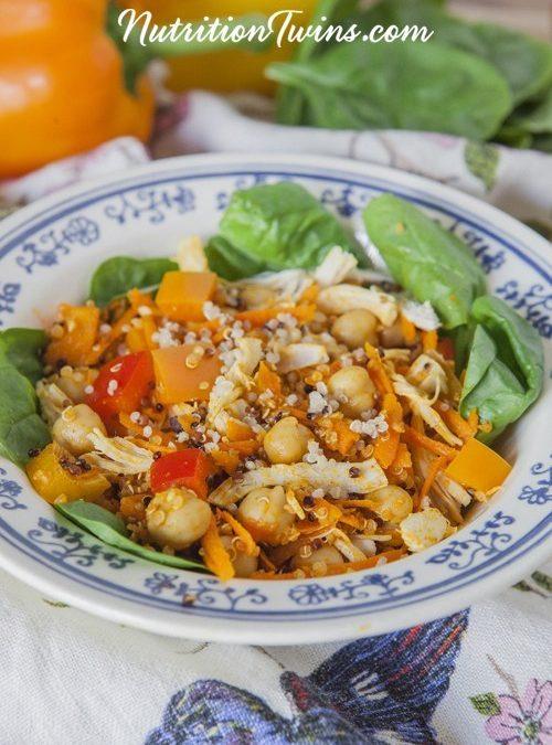 Morocan Chickpea And Veggie Quinoa